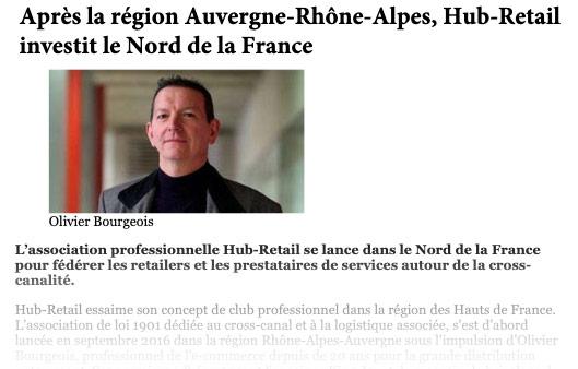 Entête art. Hub-Retail s'implante dans le Nord-pas-de-Calais - Les Clés du Digital