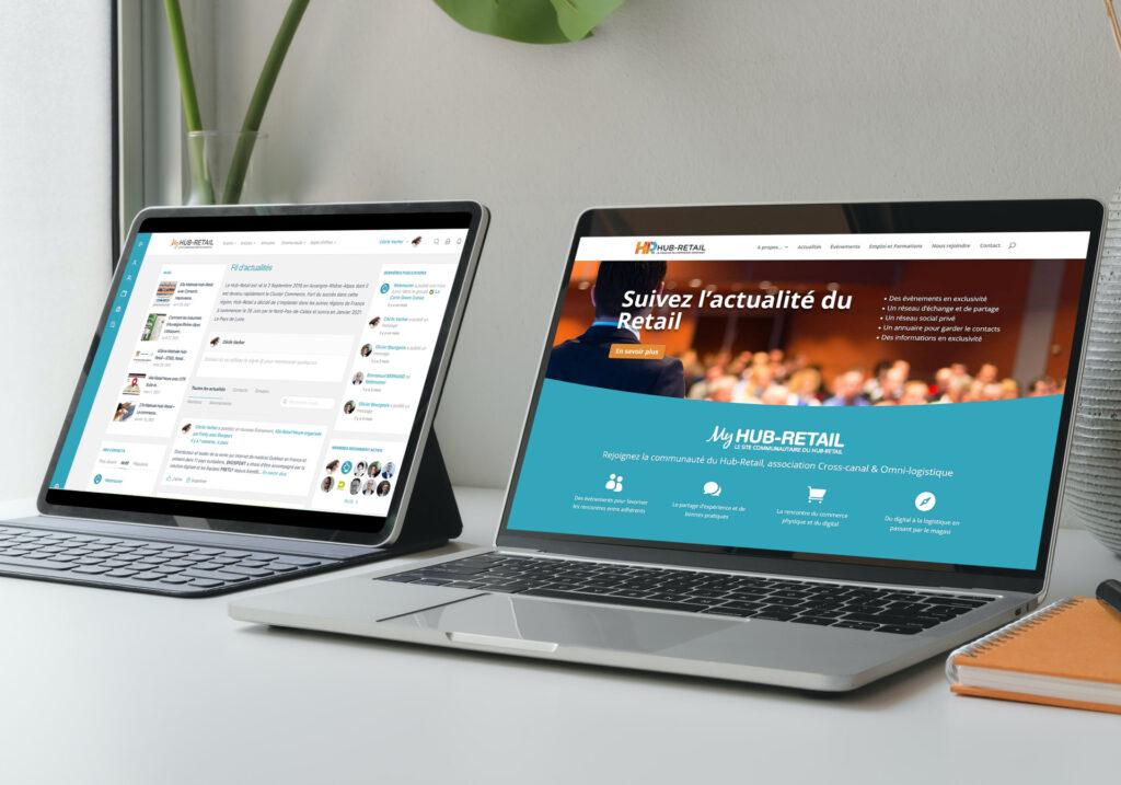 Les nouveaux sites Hub-Retail